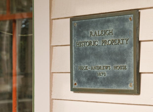 Historic Landmark Plaque - heck Andrews House